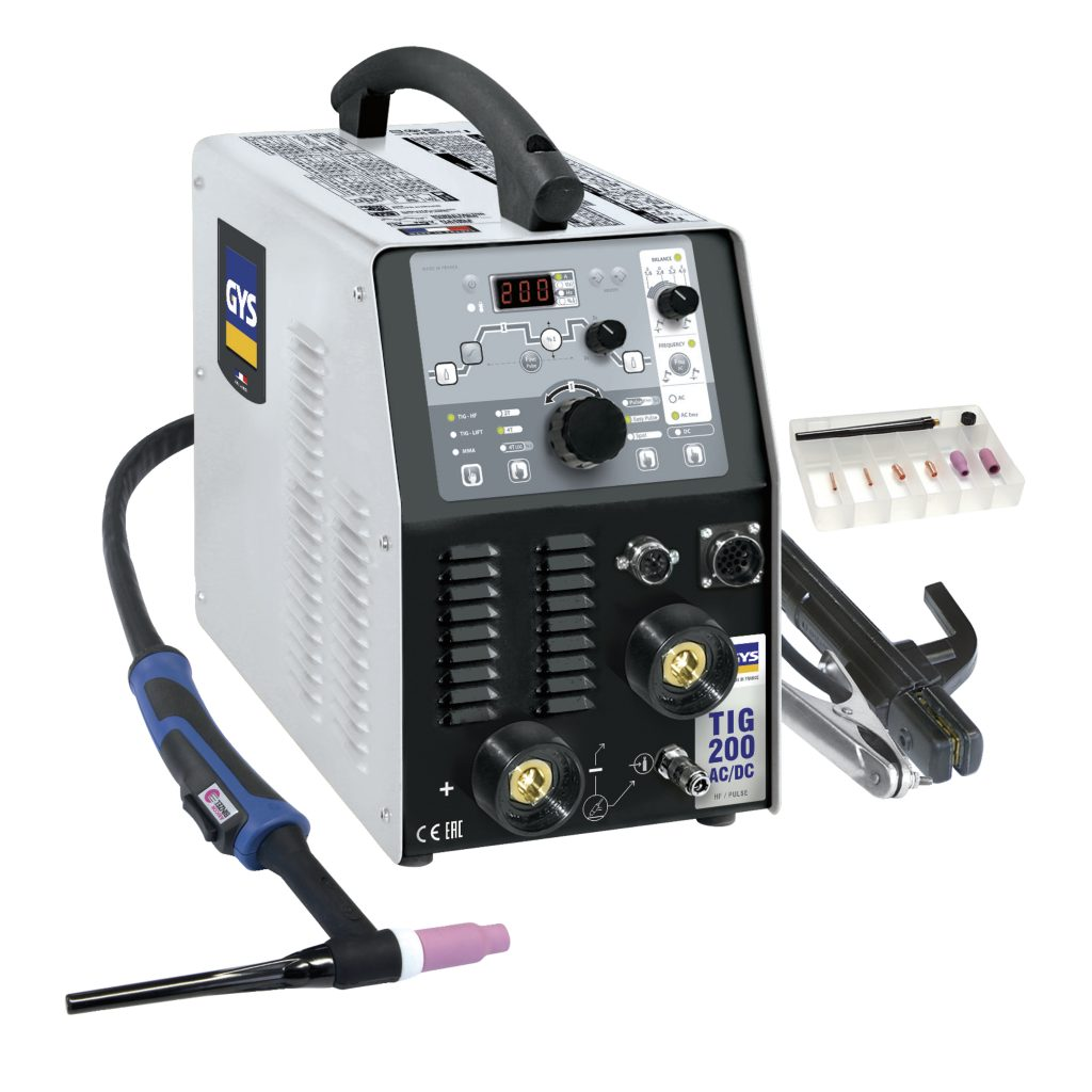 gys tig 200 ac dc hf fv tig welder 110 240v 1ph c w accessories r h davey welding supplies ltd