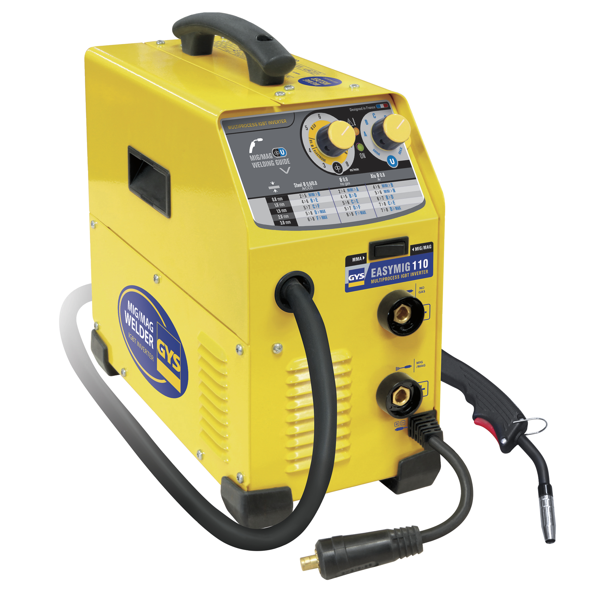 Gys Easymig 110 Inverter Mig Welder 240v 1ph R H Davey Welding Supplies Ltd